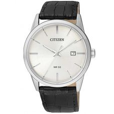 Citizen Mens Quartz Leather Strap Watch BI5000-01A