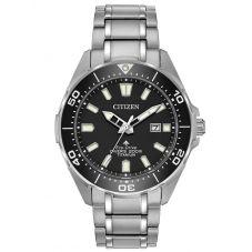 Citizen Mens Promaster Diver Black Dial Titanium Bracelet Watch BN0200-56E