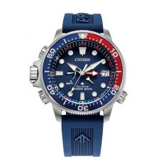 Citizen Mens Promaster Aqualand Diver Blue Rubber Strap Watch BN2038-01L
