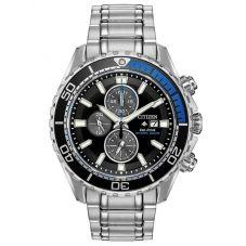 Citizen Mens Promaster Diver Chronograph Black Dial Bracelet Watch CA0719-53E