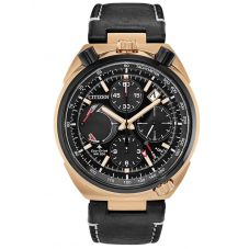 Citizen Mens Limited Edition Promaster Bullhead Eco-Drive Chronograph Leather Strap Watch AV0073-08E
