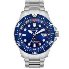 Citizen Mens Promaster Diver GMT Super Titanium Bracelet Watch BJ7111-51M