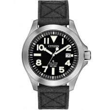 Citizen Mens Promaster Tough Super Titanium Black Dial Kevlar Strap Watch BN0118-04E