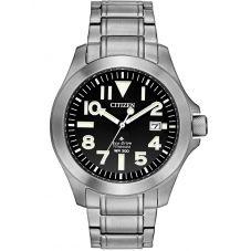 Citizen Mens Promaster Tough Super Titanium Black Date Dial Bracelet Watch BN0118-55E