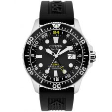 Citizen Mens Super Titanium Promaster Diver GMT Rubber Strap Watch BJ7110-03F