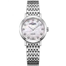 Rotary Ladies Windsor Mother Of Pearl Diamond Dial Bracelet Watch LB05300/07/D