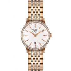 Rotary Ladies Two Tone Rose Watch LB90057/06