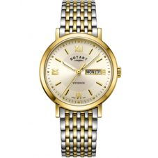 Rotary Mens Windsor Two Tone Champagne Watch GB05301/09