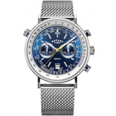 Rotary Mens Henley Chronograph Mesh Bracelet Watch GB05235/05
