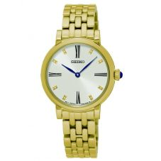 Seiko Ladies Discover More Gold Plated Bracelet Watch SFQ814P1