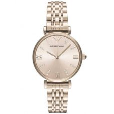 Emporio Armani Ladies Gold Blush Bracelet Watch AR11059