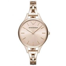 Emporio Armani Ladies Gold Blush Bracelet Watch AR11055
