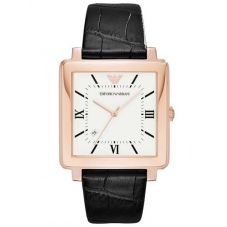Emporio Armani Mens Rose Gold-Plated Strap Watch AR11075