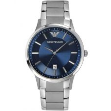 Emporio Armani Mens Blue Dial Watch AR2477
