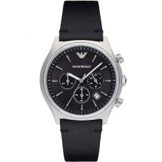 Emporio Armani Mens Chronograph Strap Watch AR1975