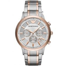 Emporio Armani Mens Two Tone Chronograph Bracelet Watch AR11077