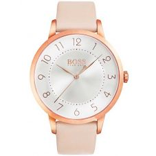 BOSS Ladies Eclipse Pink Leather Strap Watch 1502407