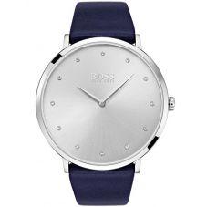 BOSS Ladies Jillian Blue Leather Strap Watch 1502410