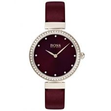 BOSS Ladies Celebration Red Leather Strap Watch 1502481