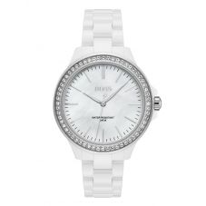 BOSS Ladies Victoria White Ceramic Bracelet Watch 1502454