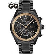 BOSS Mens Grand Prix GQ Special Edition Black Bracelet Watch 1513578