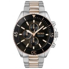 BOSS Mens Ocean Edition Chronograph Two Tone Bracelet Watch 1513705