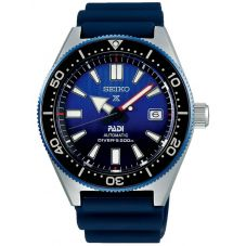 Seiko Mens Prospex Divers PADI Automatic Blue Rubber Strap Watch SPB071J1