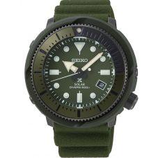 Seiko Mens Prospex Street Series Solar Olive Rubber Strap Watch SNE535P1