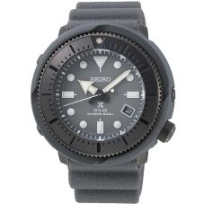 Seiko Mens Prospex Street Series Solar Grey Rubber Strap Watch SNE537P1