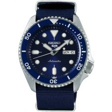 Seiko Mens 5 Sports Automatic Blue Fabric Strap Watch SRPD51K2