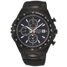 Seiko Mens Conceptual Series Black Chronograph Dial Rubber Strap Watch SNAF87P1