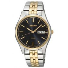 Seiko Mens Discover More Solar Two Tone Bracelet Watch SNE034P1