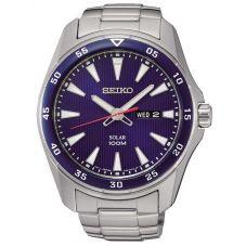 Seiko Mens Discover More Solar Blue Bracelet Watch SNE391P1