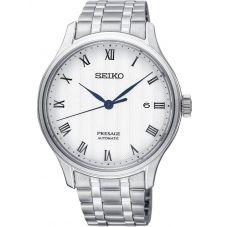 Seiko Mens Presage Zen Garden Automatic Silver Bracelet Watch SRPC79J1