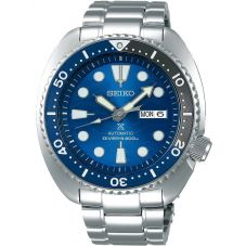 Seiko Mens Prospex Save The Ocean Automatic Divers Blue Dial Bracelet Watch SRPD21K1