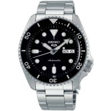 Seiko Mens 5 Sports Automatic Black Bracelet Watch SRPD55K1
