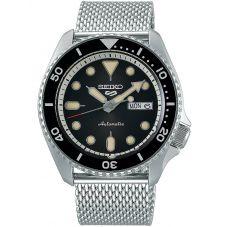 Seiko Mens 5 Sports Automatic Black Mesh Bracelet Watch SRPD73K1