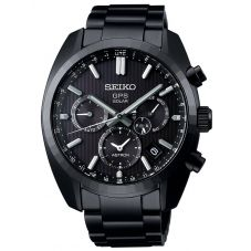 Seiko Mens Astron GPS Solar Limited Edition 50th Anniversary Chronograph Black Dial Bracelet Watch SSH023J1