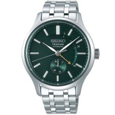 Seiko Mens Presage Zen Garden Automatic Green Dial Stainless Steel Bracelet Watch SSA397J1