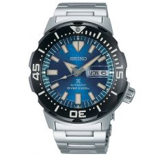 Seiko Mens Prospex Automatic Monster Save The Ocean Stainless Steel Bracelet Watch SRPE09K1