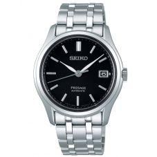 Seiko Mens Presage Automatic Japanese Garden Black Dial Stainless Steel Bracelet Watch SRPD99J1