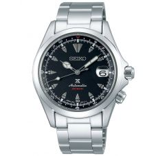 Seiko Mens Prospex Alpinist Automatic Black Dial Stainless Steel Bracelet Watch SPB117J1