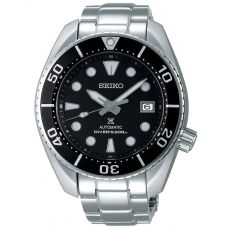 Seiko Mens Prospex Sumo Automatic Black Dial Stainless Steel Bracelet Watch SPB101J1