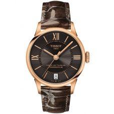 Tissot Ladies T-Classic Chemin Des Tourelles Powermatic Brown Watch T099.207.36.448.00