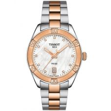 Tissot Ladies T-Classic PR-100 Sports Chic Pearl Watch T101.910.22.116.00