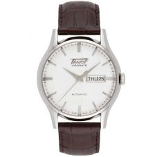 Tissot Mens Heritage Visodate Automatic White Dial Brown Leather Strap Watch T019.430.16.031.01