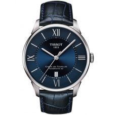 Tissot Mens T-Classic Chemin Des Tourelles Powermatic Blue Watch T099.407.16.048.00