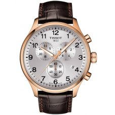 Tissot Mens T-Sport Chrono Xl Classic Brown Leather Strap Watch T116.617.36.037.00