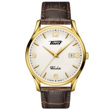 Tissot Mens Heritage Visodate White Dial Brown Leather Strap Watch T118.410.36.277.00