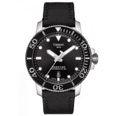 Tissot Mens T-Sport Seastar 1000 Powermatic 80 Black Fabric Strap Watch T120.407.17.051.00
